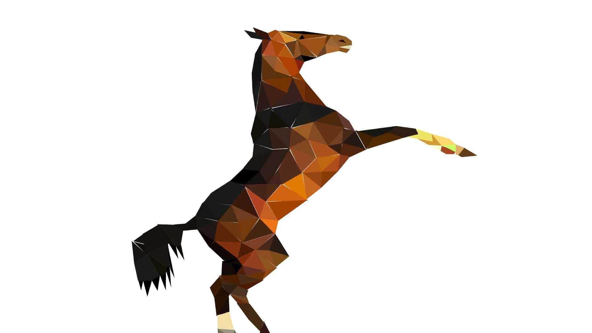 polygon-horse