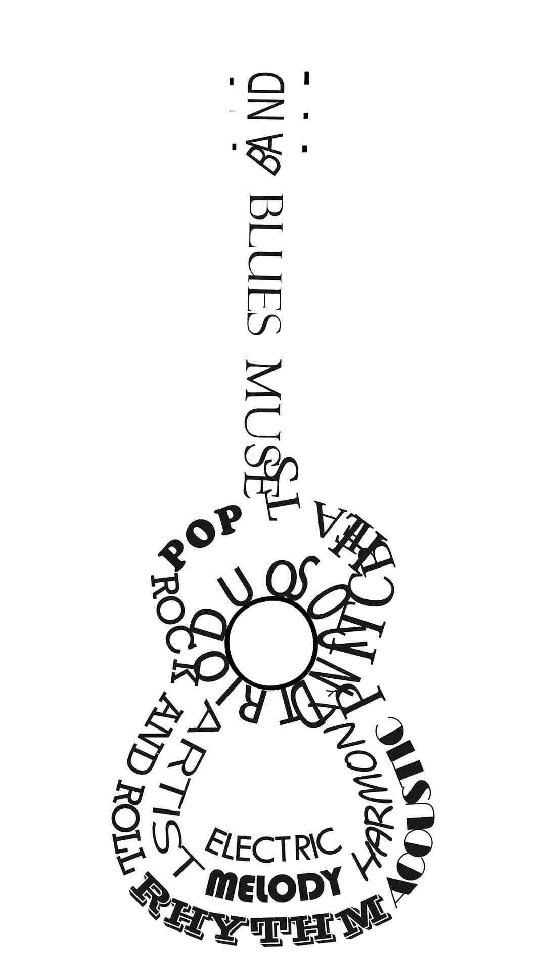 typograhy-guitar